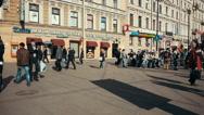 People on the Street of Saint Petersburg, Russia Stock Footage