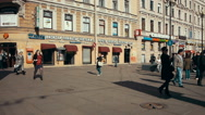 People on the Street of Saint Petersburg, Russia Stock Footage