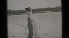 1956: a man in suit is seen walking NEW YORK CITY Stock Footage
