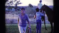 1968: training for the competition with the kids preparing very hard to meet up Stock Footage