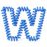 Spring, spiral cable font collection letter - W. 3D Stock Illustration