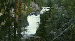 Waterfall Kivach in Karelia, Russia, Slo-Mo Stock Footage