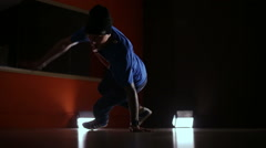 Breakdancing, dancer, dancing in the hall Stock Footage