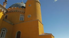 Cinematic POV Perspective of the Pena Palace (Palacio da Pena) in Sintra Stock Footage