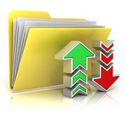 Upload, download folder icon Stock Illustration