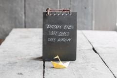 Dream Big - Set Goal - Take Action, motivational quote Kuvituskuvat