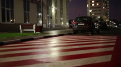 Marked up parking place for special transport and parked cars Stock Footage