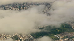 Clouds Over the UK - Aerial Footage Over the Clouds Featuring Famous Landmarks Stock Footage