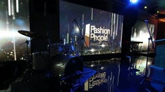 Empty stage with drums at the ceremony of awarding Fashion People Awards Arkistovideo