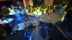 Drum Kit on stage at the ceremony of awarding Fashion People Awards Stock Footage