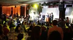 Diana Arbenina receives award Fashion Rock at the ceremony of awarding Stock Footage