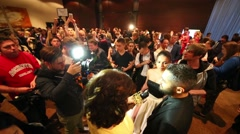 Crowd at the ceremony of awarding Fashion People Awards Arkistovideo