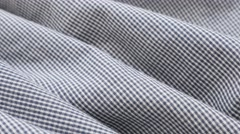 Modern shirt  fabric pattern clothing background close-up Stock Footage