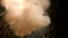 Explosion with sparks and smoke Stock Footage
