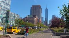 Cycling through Tribeca NY Stock Footage