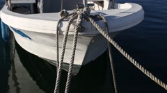Boat moored to the port Stock Footage
