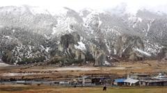 Asian mountain village Stock Footage