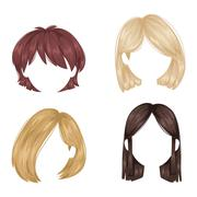 Vector woman hairstyle Stock Illustration