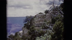 1968: a very large ravine generated by the action of nature is displayed Stock Footage