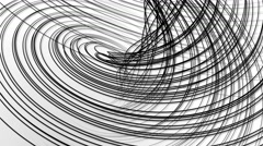 Random wavy black lines white background Stock Footage