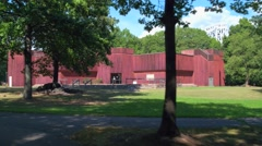 Fort Lee Historic Park visitor center New Jersey Stock Footage