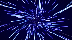 Hyperspace flight Stock Footage