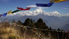 White peaks of Himalayan range Stock Footage