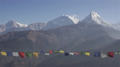 Fascinating mountain peaks in Asia Stock Footage