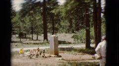1968: a forest area is seen COTTONWOOD, ARIZONA Stock Footage