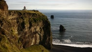View of the Dyrholaey Lighthouse  Stock Footage