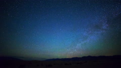 Astro Time Lapse of North Star over Sand Dunes in Death Valley -Zoom In- Stock Footage