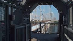 GW Bridge New Jersey to New York Stock Footage
