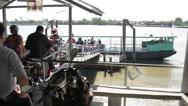 Motorbike Ferry in Thailand Stock Footage