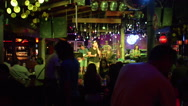 Thailand Chiang Mai Restaurant Local Band Playing Stock Footage