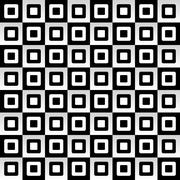 Geometric pattern with black and white squares gradient effect Stock Illustration