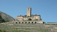 Sarre, Aosta valley, Italy. View of medieval Castle of Sarre Stock Footage