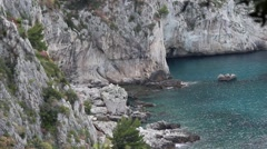 Cove in Capri, Italy Stock Footage
