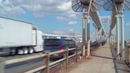 Traffic on the George Washington Bridge Stock Footage