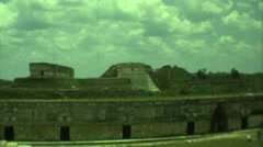 1973: the greenish greenfield fort MEXICO Stock Footage
