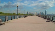 Liberty State Park walkway Stock Footage