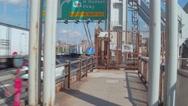 Pedestrian pov GW Bridge Stock Footage