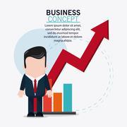 Businessman cartoon and strategy icon design Stock Illustration