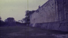 1973: a historic stone structure that appears to be a part of a larger complex Stock Footage