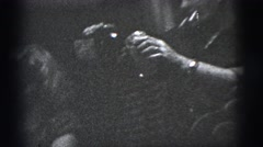1956: the man get into the vintage car NEW YORK CITY Stock Footage