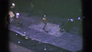 1956: people are playing baseball on roads NEW YORK CITY Stock Footage