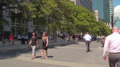 Lunch time at Jersey City Stock Footage