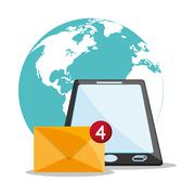 Email message and communication design Stock Illustration