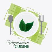 Vegetarian cuisine organic and healthy food design Stock Illustration