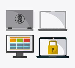 Data protection and Cyber security system Stock Illustration