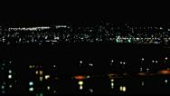 Night City Lights / Big City Landscape / Night Life Stock Footage
